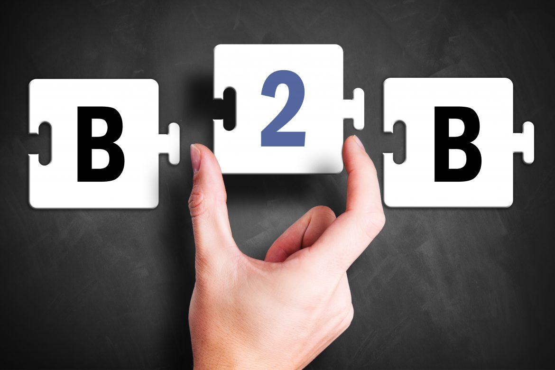 b2b puzzle composto da una mano